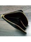 Мужской кожаный кошелёк на молнии из чёрной кожи крокодила Mobcase 1291