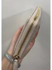 Женский кожаный кошелёк на молнии из белой кожи крокодила Mobcase 1294