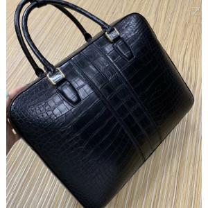 Мужская кожаная сумка из тёмно-синей кожи крокодила Mobcase 1285