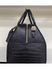 Женская кожаная дорожно-спортивная сумка из чёрной кожи крокодила Mobcase 1288