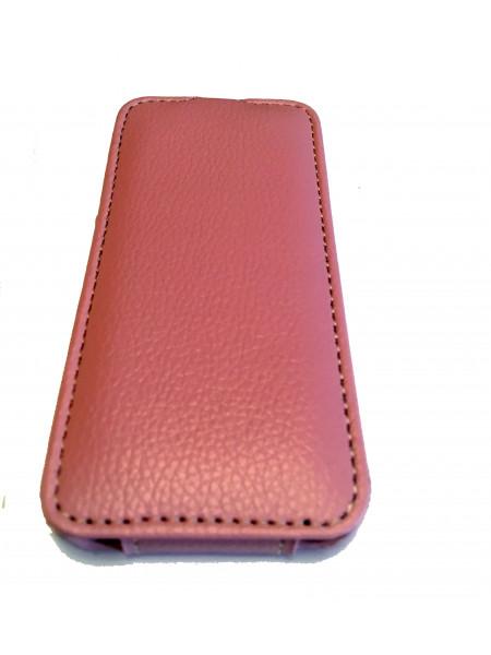 Чехол раскладушка, кожаный, Melkco, розовый для iPhone 5, 5s