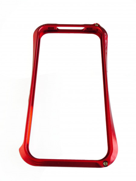 Чехол, бампер, металлический, красный, Deff CLEAVE, для iPhone 4, 4s
