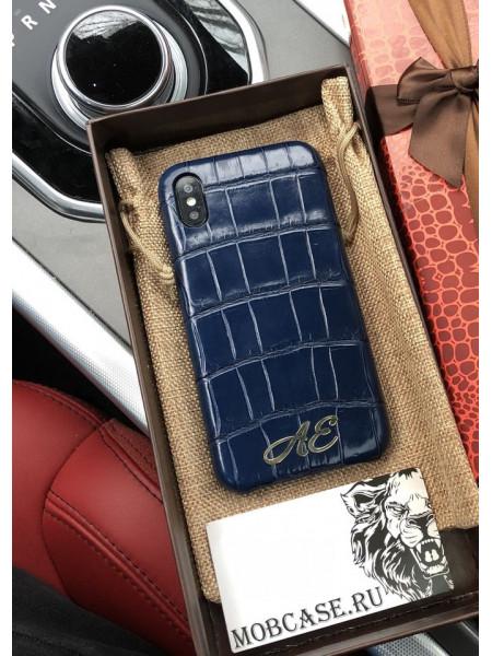 Дорогой, именной чехол из кожи крокодила Mobcase 621, для iPhone 7/8|7/8Plus|XXS|XSMAX|XR