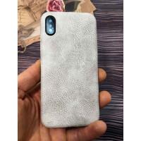 Белый, кожаный чехол из качественной эко кожи Mobcase 831 для iPhone X