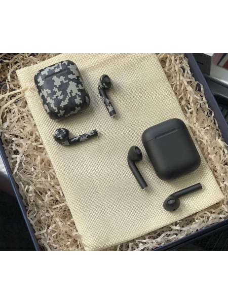 Беспроводные наушники Apple AirPods, Black Military, Mobcase 898