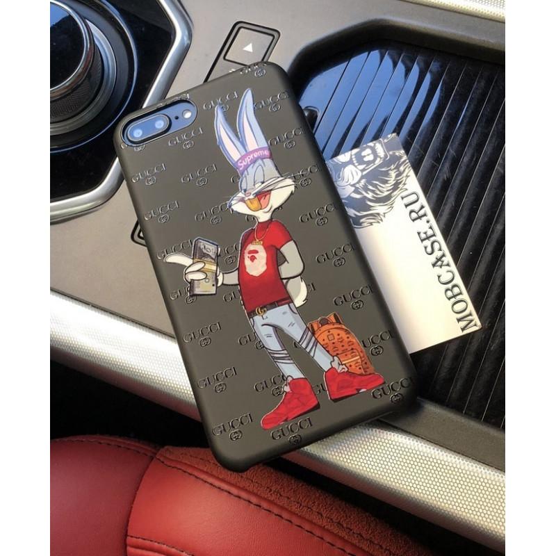 Брендовый чехол Gucci с принтом модного Bugs Bunny 614, для iPhone