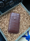 Чехол-карман из коричневой кожи крокодила, Mobcase 327