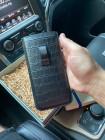 Чехол-карман, кожаный, чёрный, Mobcase 1104