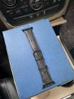 Чёрный кожаный ремешок Mobcase 1208 для Apple Watch