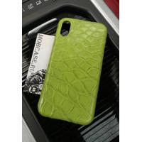 Дорогой чехол из зелёной, крокодиловой кожи Mobcase 696 для iPhone 7, 8, 7 Plus, 8 Plus, X, XS, XSMAX, XR