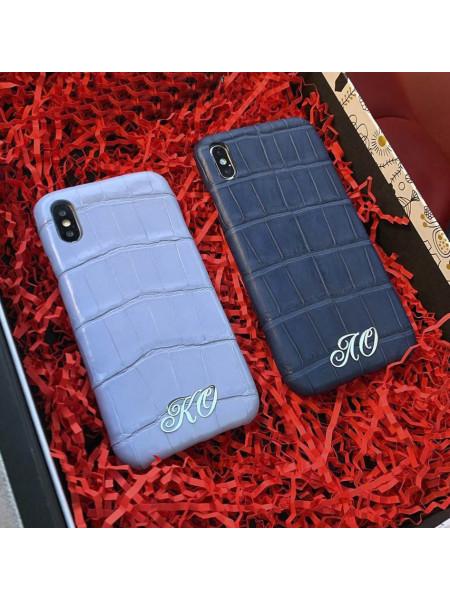Дорогой, именной чехол из кожи крокодила, Mobcase 863 для iPhone X|XS MAX