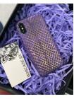 Дорогой, лимитированный чехол из золотистой кожи Питона, Mobcase 741 для iPhone