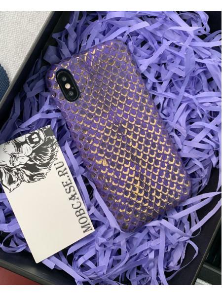 Дорогой, лимитированный чехол из золотистой кожи Питона, Mobcase 741 для iPhone 7, 8, 7 Plus, 8 Plus, X, XS, XSMAX, XR
