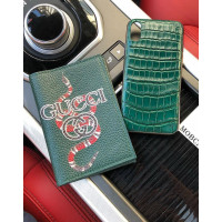 Дорогой, зеленый чехол из крокодиловой кожи Mobcase 625, для iPhone 7/8|7/8Plus|XXS|XSMAX|XR