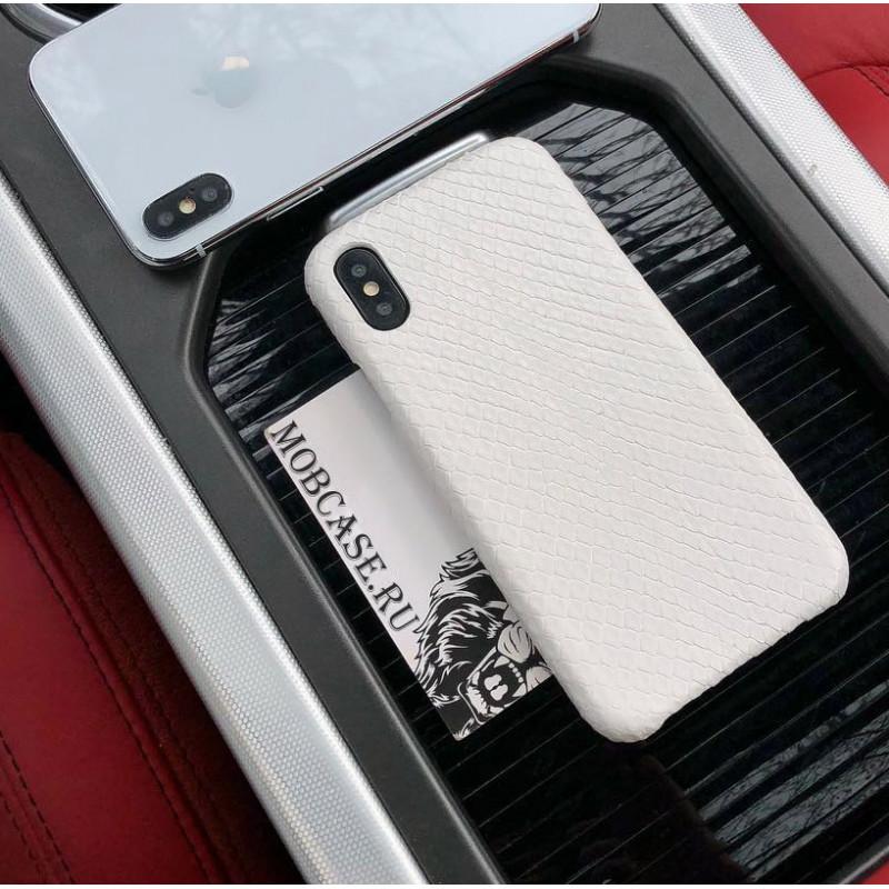 Эксклюзивный, белый, кожаный чехол Mobcase 595, для iPhone