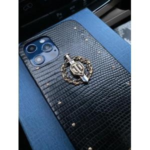 Эксклюзивный чехол из кожи игуана с элементами из бронзы Mobcase 1348