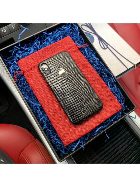 Эксклюзивный чехол из кожи игуана с серебряным логотипом Apple, Mobcase 748 для iPhone 7, 8, 7 Plus, 8 Plus, X, XS, XSMAX, XR