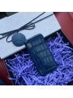 Эксклюзивный чехол, кожаный, крокодиловый, синий Mobcase 675 для iPhone