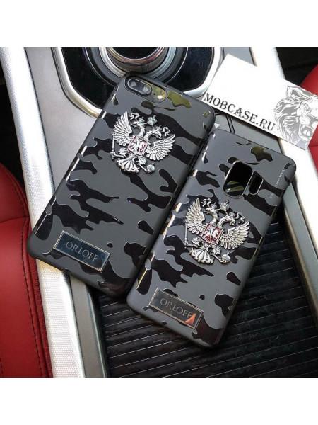 Персональный кейс с гравировкой, гербом РФ Mobcase 596 на любую модель iPhone