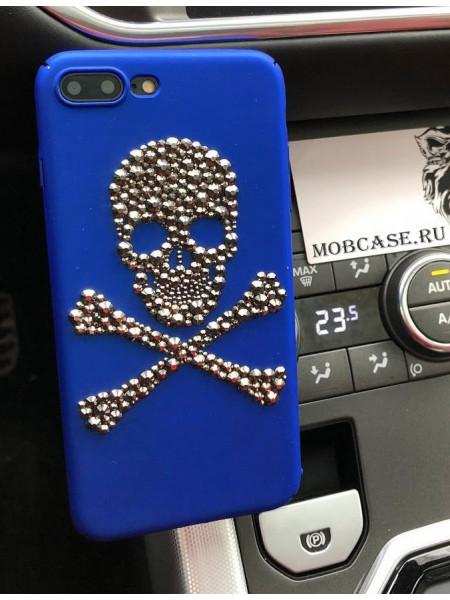 Чехол с черепом из кристаллов, страз  Mobcase 594, под заказ на любой iPhone