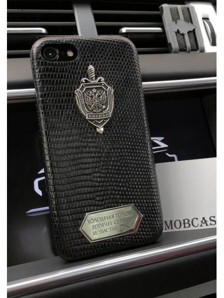 Эксклюзивный чехол с гербом ФСБ и табличкой с надписью Mobcase 669 для iPhone 7, 8, 7 Plus, 8 Plus, X, XS, XSMAX, XR