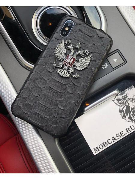 Чехол с металлическим гербом РФ Mobcase 592 под заказ на любой iPhone