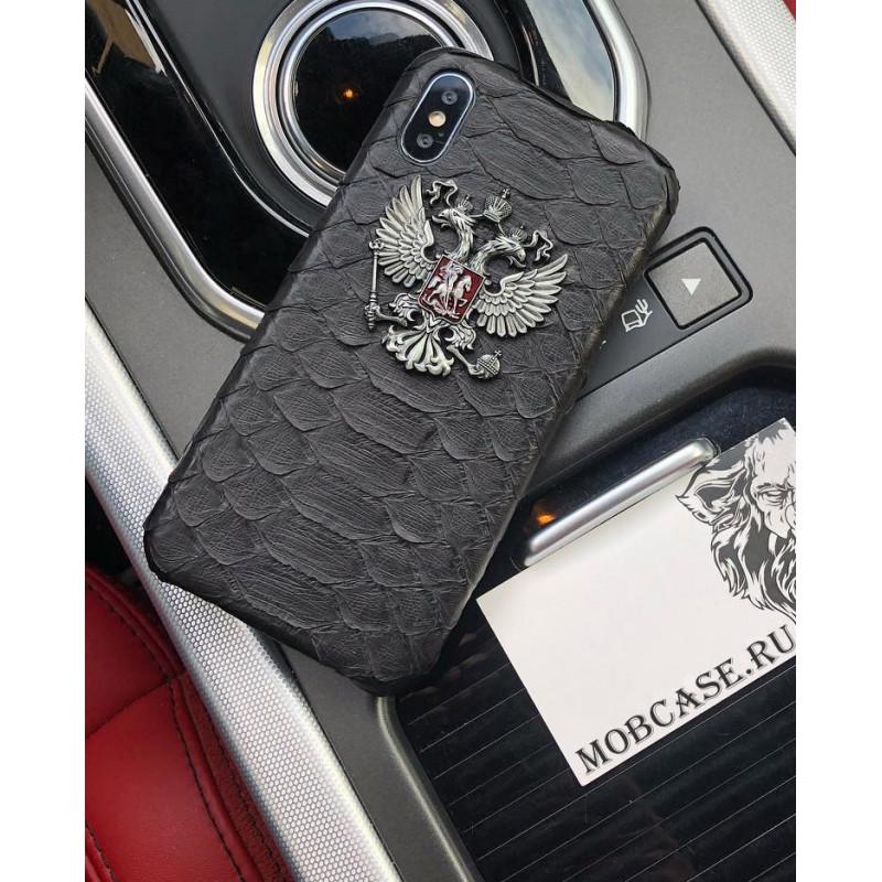 Эксклюзивный чехол с металлическим гербом РФ Mobcase 592 для iPhone