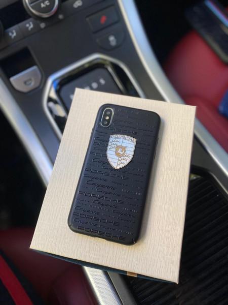 Эксклюзивный чёрный чехол с логотипом Porsche Mobcase 1250