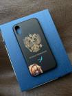 Эксклюзивный фамильный чёрный чехол с гербом России Mobcase 1359