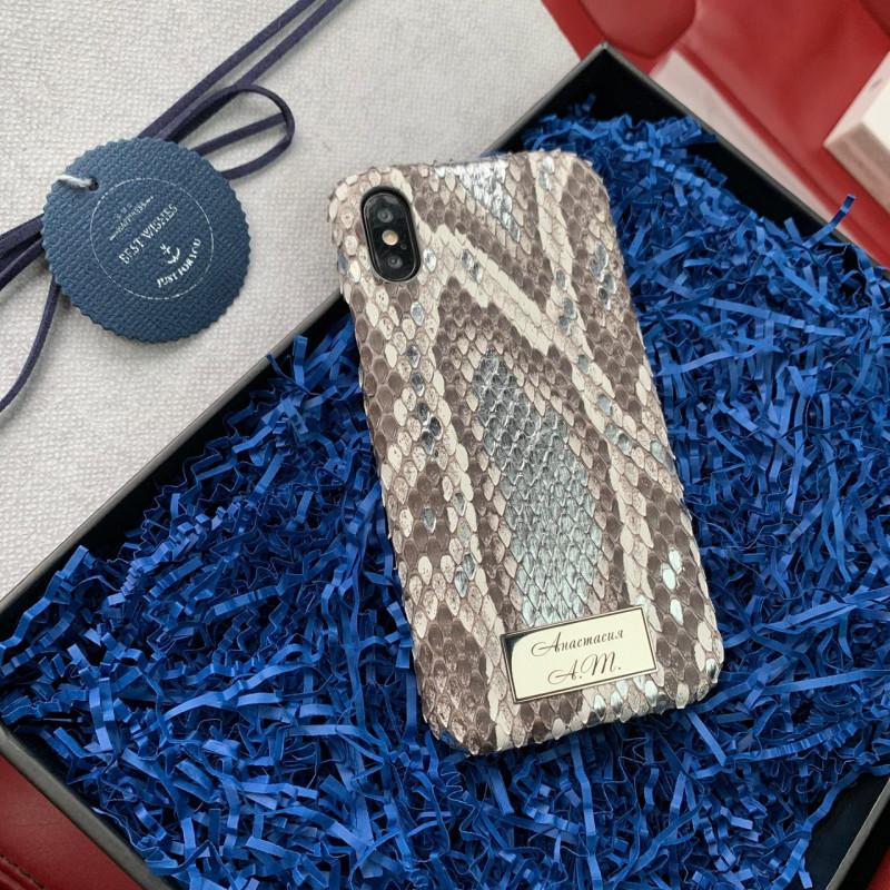 Эксклюзивный, именной чехол из кожи питона, Mobcase 744 для iPhone