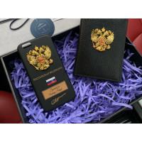 Эксклюзивный, именной чехол с металлическим гербом России Mobcase 677 для iPhone 7, 8, 7 Plus, 8 Plus, X, XS, XSMAX, XR