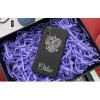 Эксклюзивный, именной чехол с принтом, гербом России Mobcase 676 для iPhone 7, 8, 7 Plus, 8 Plus, X, XS, XSMAX, XR