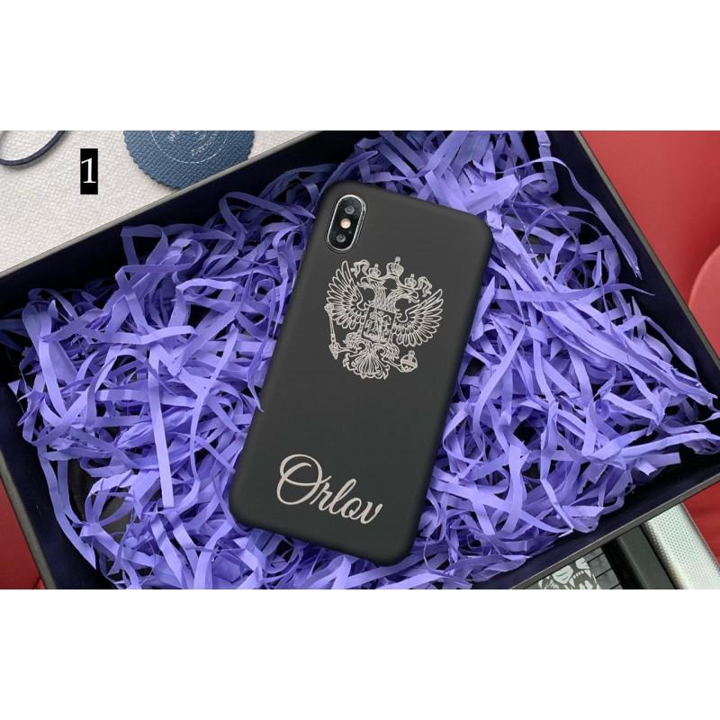 Эксклюзивный, именной чехол с принтом, гербом России Mobcase 676 для iPhone