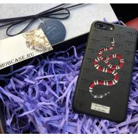 Эксклюзивный, именной чехол с принтом змеи Gucci Mobcase 634 для iPhone 7/8|7/8Plus|XXS|XSMAX|XR