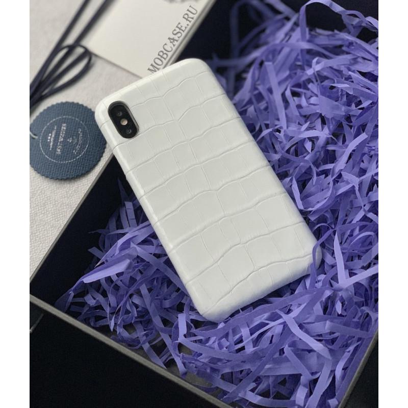Эксклюзивный, кожаный чехол белого цвета, Mobcase 719 для iPhone