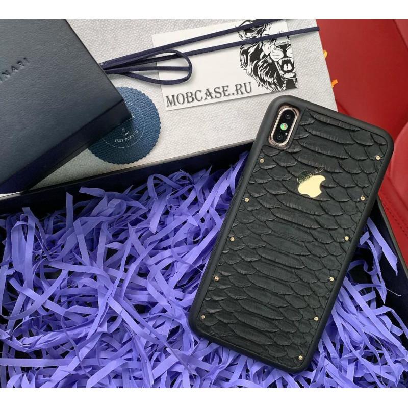 Эксклюзивный, кожаный чехол с золотым логотипом Apple, Mobcase 679 для iPhone