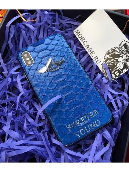 Эксклюзивный, кожаный, именной чехол с логотипом Mobcase 630, для iPhone