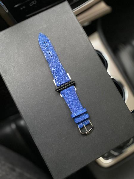Кожаный синий ремешок из ската Mobcase 1268 для Apple Watch
