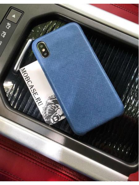 Эксклюзивный, синий, кожаный чехол Mobcase 600, для iPhone