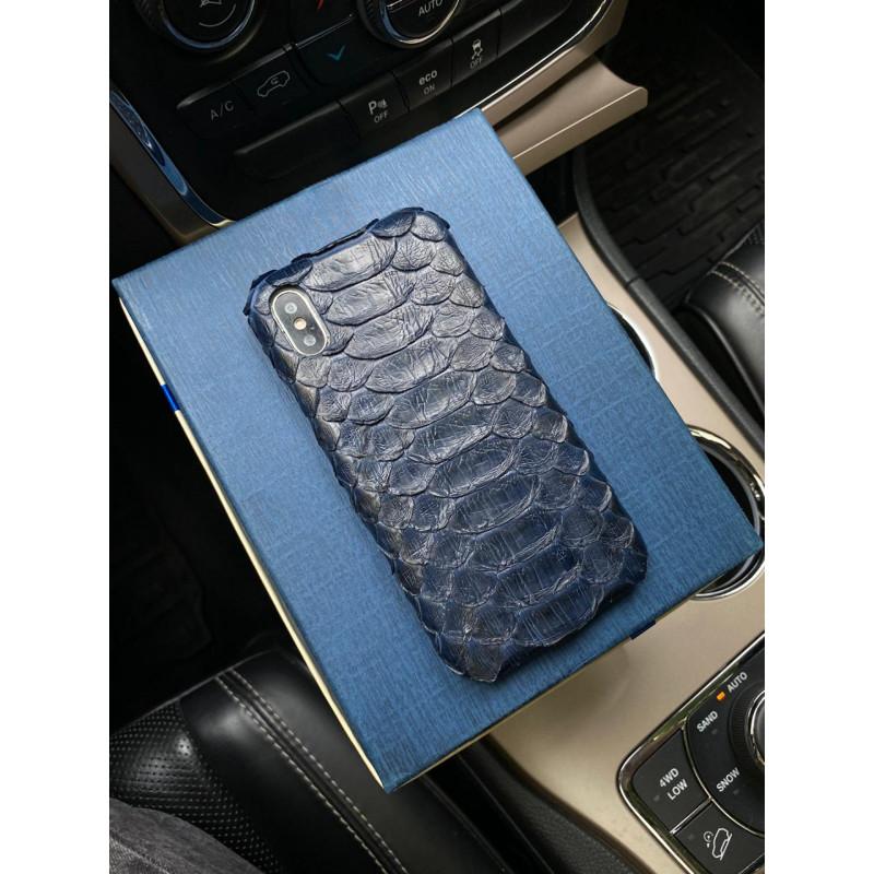 Эксклюзивный темно-синий чехол из кожи питона Mobcase 1230