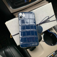 Элитный телефон iPhone 11 Pro: Nile Crocodile, Blue, Mobcase 1025