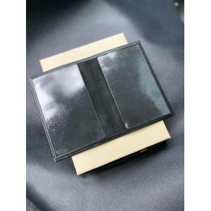 Именная кожаная чёрная обложка на паспорт с гербом России Mobcase 1310