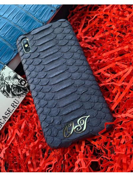 Именной чехол из кожи питона, Mobcase 718 для iPhone 7, 8, 7 Plus, 8 Plus, X, XS, XSMAX, XR