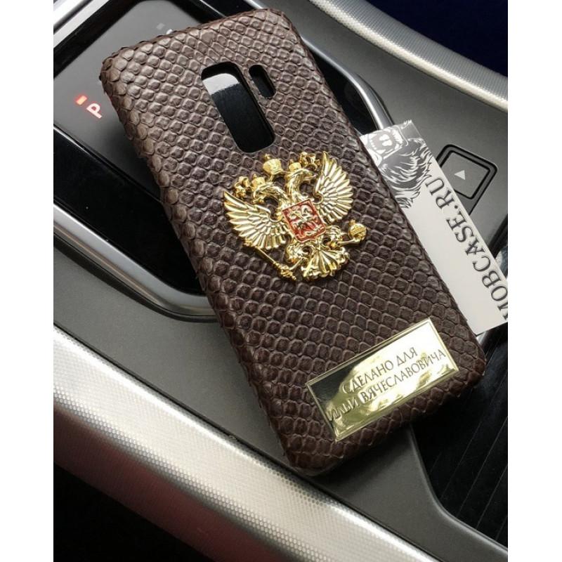 Именной чехол, кожаный, гербом России Mobcase 662 для iPhone
