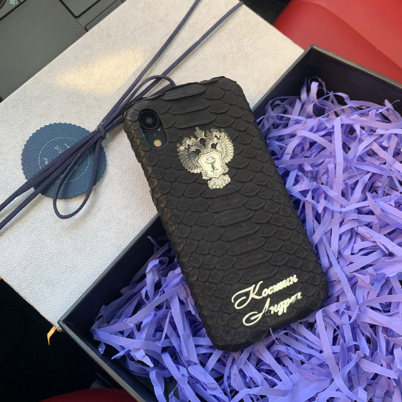 Именной чехол с большим с гербом здравоохранения России, Mobcase 735 для iPhone
