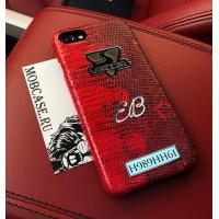 Именной чехол с логотипом из красной кожи игуана Mobcase 753 для iPhone 7, 8, 7 Plus, 8 Plus, X, XS, XSMAX, XR