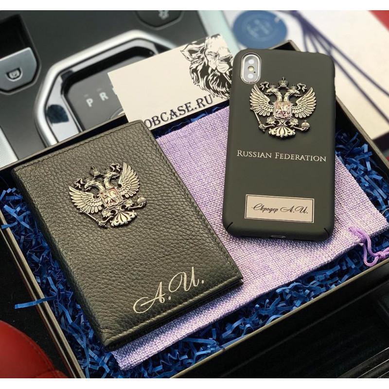 Именной чехол с принтом, гербом России Mobcase 781 для iPhone