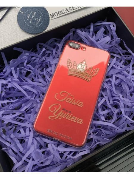 Именной, чехол с принтом и короной, Mobcase 714 для iPhone