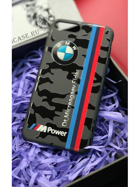 Именной, чехол с принтом милитари, логотипом BMW M-Power, Mobcase 682 для iPhone 7, 8, 7 Plus, 8 Plus, X, XS, XSMAX, XR