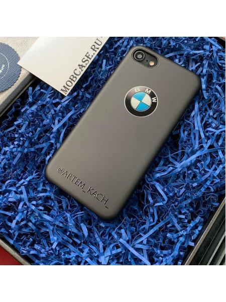 Именной, чёрный чехол для телефона с принтом, логотипом BMW Mobcase 840
